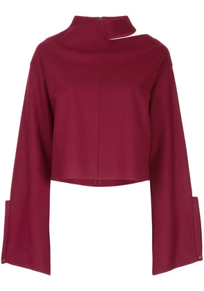 Aula cut-out detail jumper - Red