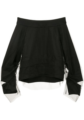 Aula off-the-shoulder layered top - Black