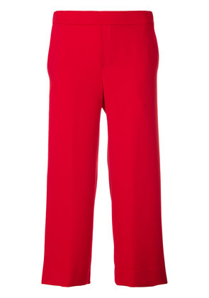 P.A.R.O.S.H. cropped wide-leg trousers - Red