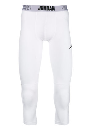 Nike cropped fitted leggings - White