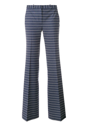 Theory printed flared trousers - Blue