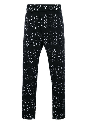 Ann Demeulemeester mixed print relaxed trousers - Black