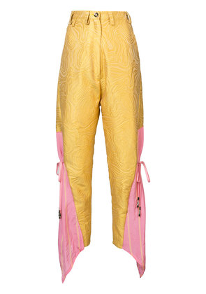 Barbara Bologna Be high waisted trousers - Yellow & Orange