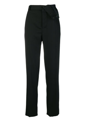 Y / Project turnover waistband tailored trousers - Black