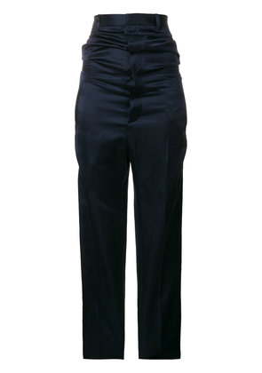 Y / Project high waisted trousers - Blue