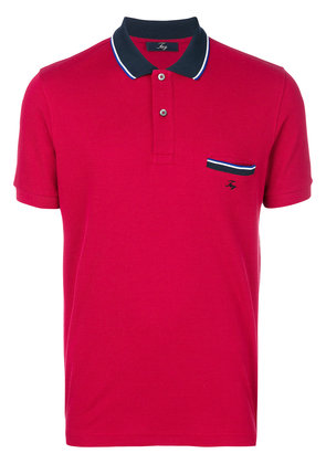 Fay chest pocket polo - Red