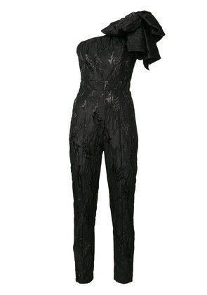 MSGM one-shoulder jumpsuit - Black