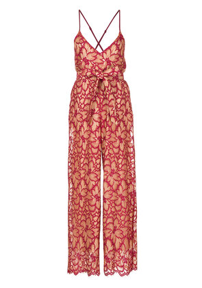 Aula lace jumpsuit - Red