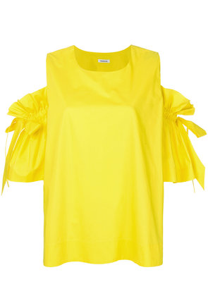 P.A.R.O.S.H. dropped tie sleeves blouse - Yellow & Orange