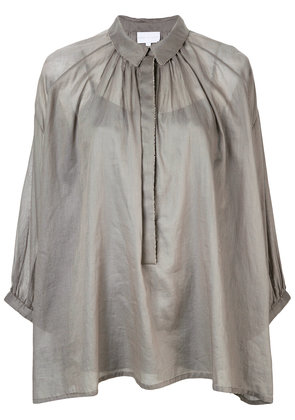 Noon By Noor Sian pleated boxy shirt - Grey