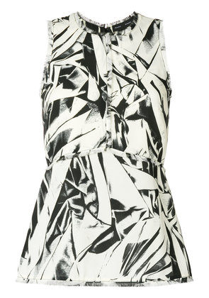 Proenza Schouler embroidered sleeveless top - White