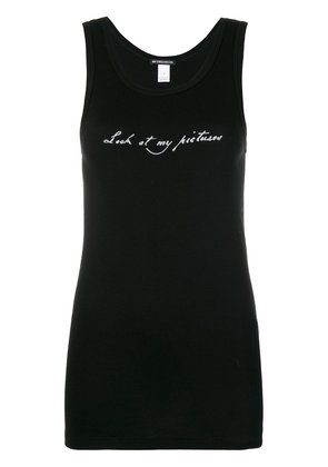 Ann Demeulemeester Look At My Picture tank top - Black