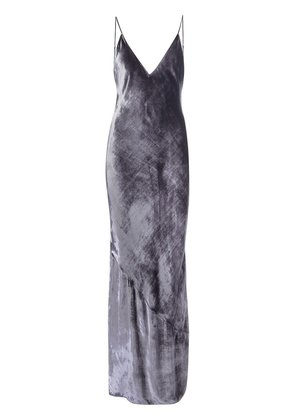 Fleur Du Mal velvet 'Bias' slip dress - Grey