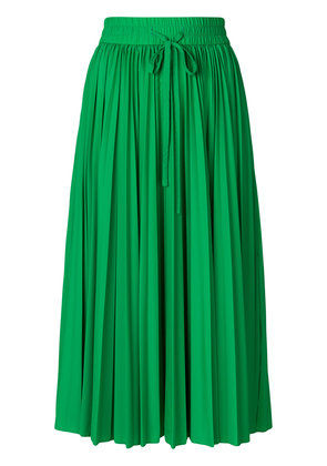 Red Valentino pleated midi skirt - Green