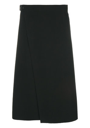 Theory flared midi pencil skirt - Black