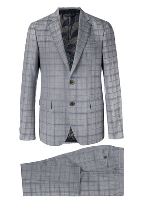 Etro checked formal suit - Grey