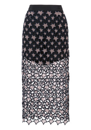 Fleur Du Mal Galaxy pencil skirt - Black