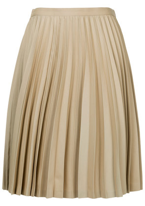 Junya Watanabe pleated A-line skirt - Nude & Neutrals