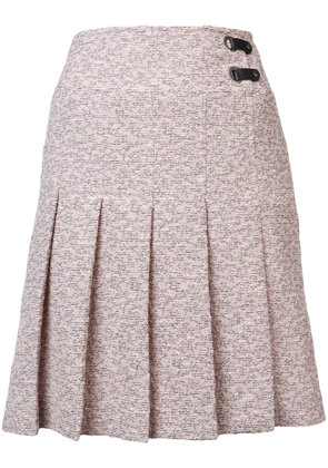 Akris Punto pleated mini skirt - Pink & Purple