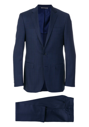 Canali checked two piece suit - Blue