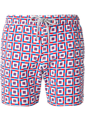 Capricode printed swim shorts - Red