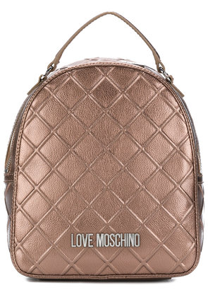 Love Moschino emossed style mini backpack - Brown