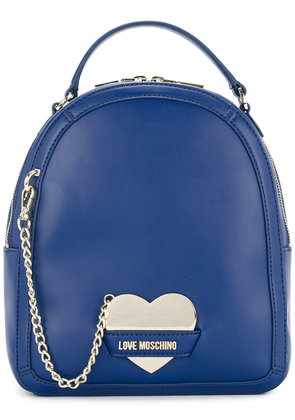 Love Moschino chain-detail backpack - Blue