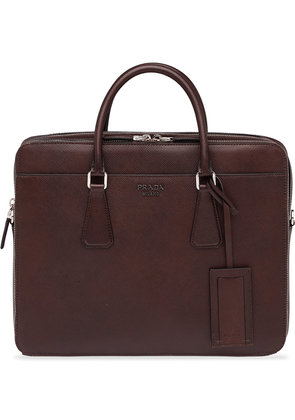 Prada classic briefcase - Brown
