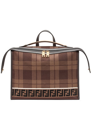 Fendi logo briefcase - Brown