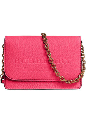 Burberry embossed logo chain wallet - Pink & Purple