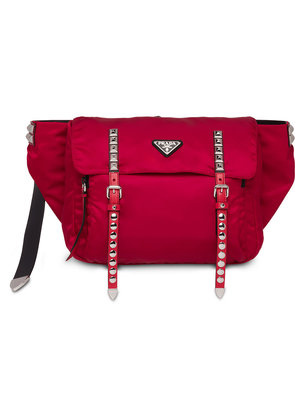 Prada studded belt bag - Red