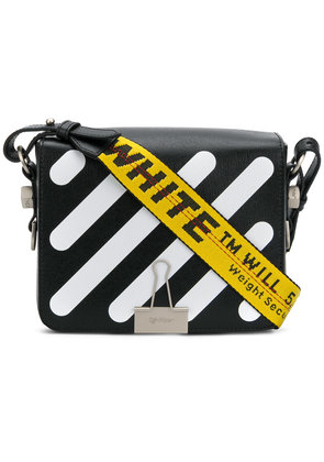 Off-White striped crossbody bag - Black