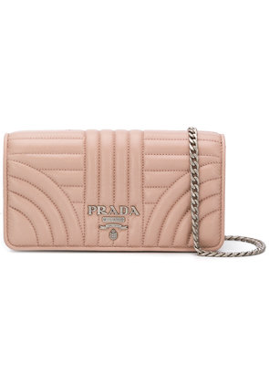 Prada quilted chain wallet - Pink & Purple