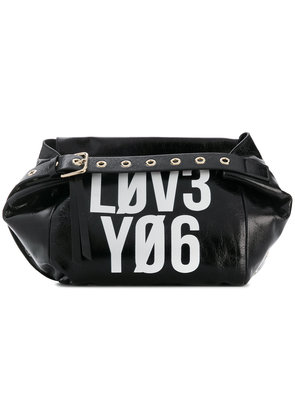 Red Valentino contrast crossbody bag - Black