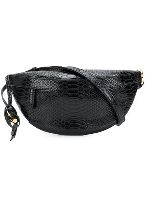 Stella McCartney croco-embossed waist bag - Black