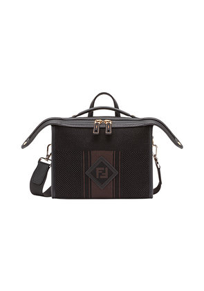 Fendi FF logo messenger bag - Black