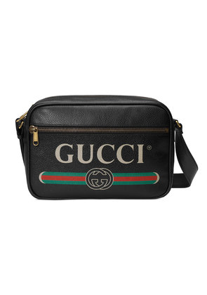 Gucci Gucci Print shoulder bag - Black