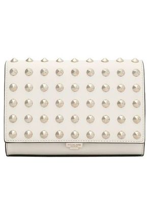 Michael Kors Collection Woman Studded Leather Clutch Ivory Size -