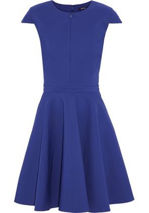 Raoul Woman Flared Pleated Cotton-blend Dress Royal Blue Size 42