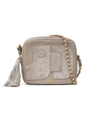 Jérôme Dreyfuss Woman Pascal Leather And Suede Shoulder Bag Taupe Size -