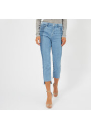 J Brand Women's Ruby High Rise Crop Jeans with Panel Detail - Genesis - W26 - Blue