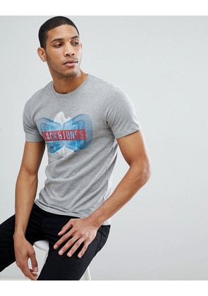 Jack & Jones Core T-Shirt With Graphic - Light grey