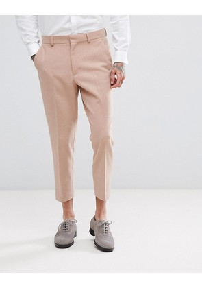 ASOS Wedding Tapered Suit Trouser in Light Pink Mix - Pink