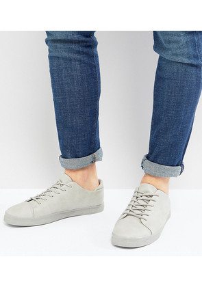ASOS Wide Fit Lace Up Trainers In Grey With Toe Cap - Grey
