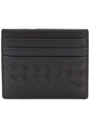 Bottega Veneta Intrecciato card holder - Brown