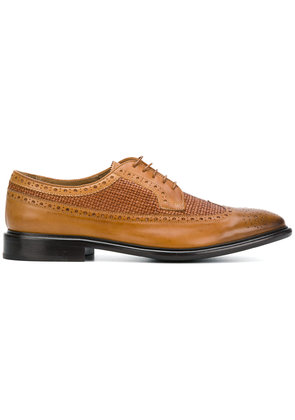 Ps By Paul Smith Budapester woven panel brogues - Brown