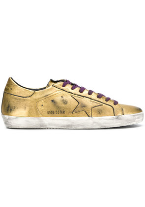 Golden Goose Deluxe Brand star lace up sneakers - Metallic