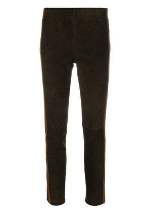 P.A.R.O.S.H. skinny cropped trousers - Brown