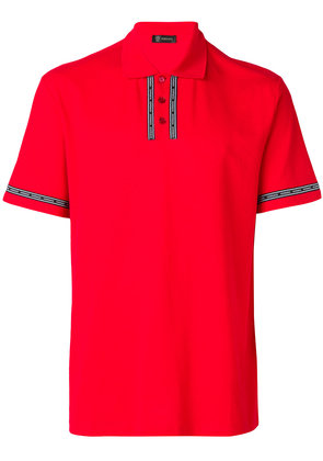 Versace logo embellished polo shirt - Red