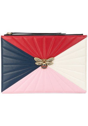 Gucci bee oversized clutch - Multicolour